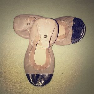 Yosi Samra Samantha Leather Ballet Flat
